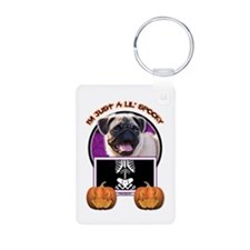 Just a Lil Spooky Pug Keychains