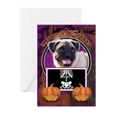 Just a Lil Spooky Pug Greeting Cards (Pk of 10)