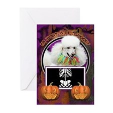 Just a Lil Spooky Poodle Greeting Cards (Pk of 10)