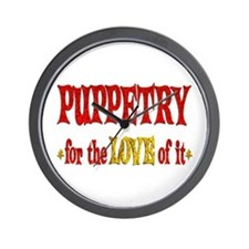 Puppetry Love Wall Clock