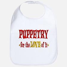 Puppetry Love Bib