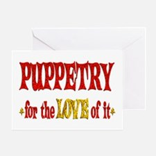 Puppetry Love Greeting Card