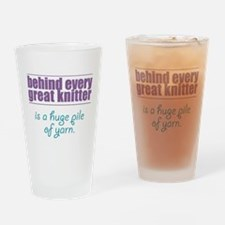 Behind Every Knitter... Drinking Glass