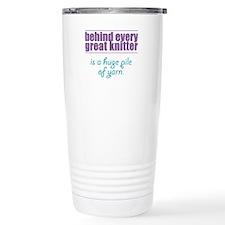 Behind Every Knitter... Travel Mug