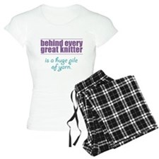 Behind Every Knitter... Pajamas
