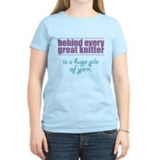 Behind Every Knitter... T-Shirt