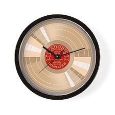 Gold Record Wall Clock
