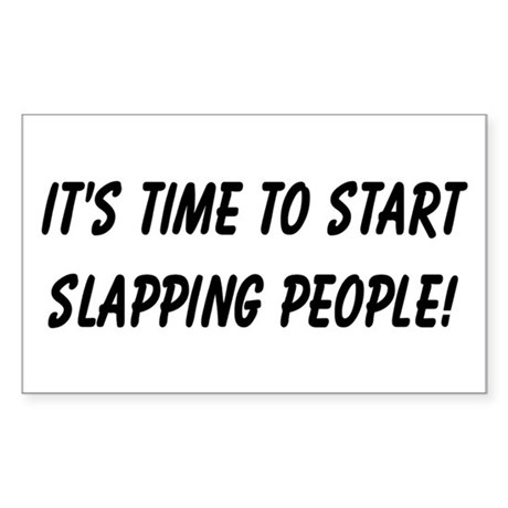 Slapping People! Rectangle Sticker