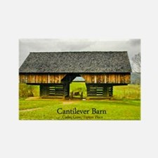 Cades Cove Barn Rectangle Magnet
