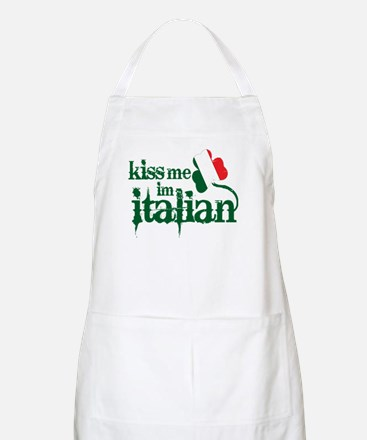 Kiss me I'm Italian -- Outdoors / Cooking Apron