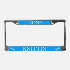 Gone Knittin' License Plate Frame
