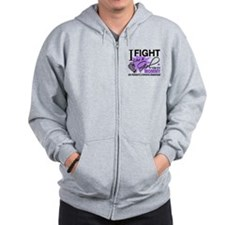 Fight Like A Girl For My Hodgkin's Lymphoma Zip Hoodie