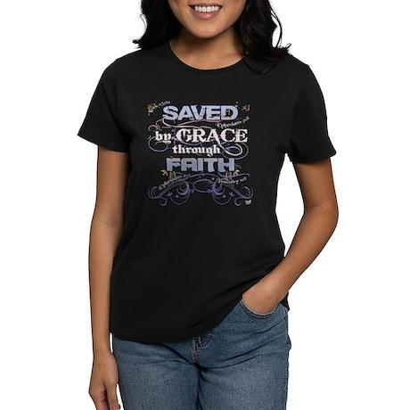 Saved by Grace Women's Dark T-Shirt