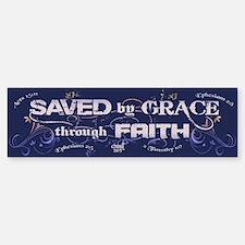 Saved by Grace Sticker (Bumper)