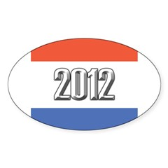 2012 Election RWB Sticker (Oval)