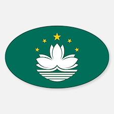 Macao Flag Oval Decal