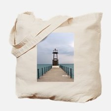 Pratt Street Beach Lighthouse Tote Bag