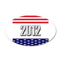 Presidential 2012 stars 38.5 x 24.5 Oval Wall Peel