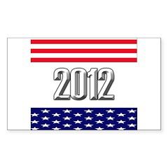 Presidential 2012 stars Sticker (Rectangle)