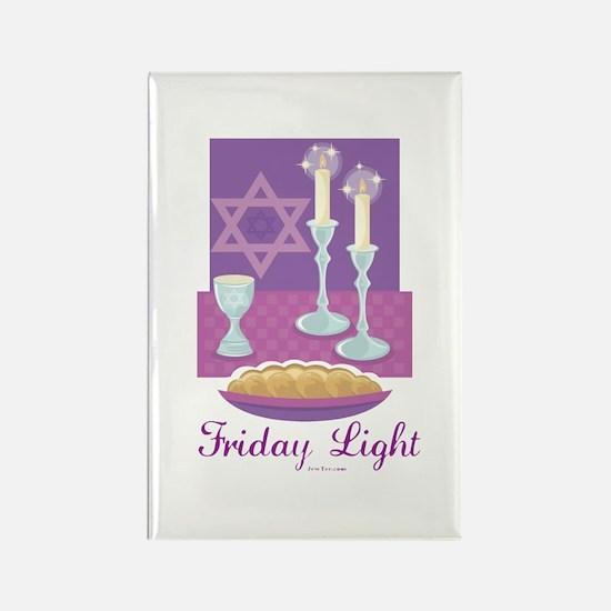 Friday Light Jewish Rectangle Magnet