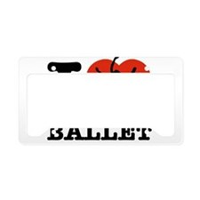 I love Ballet License Plate Holder