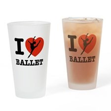 I love Ballet Drinking Glass