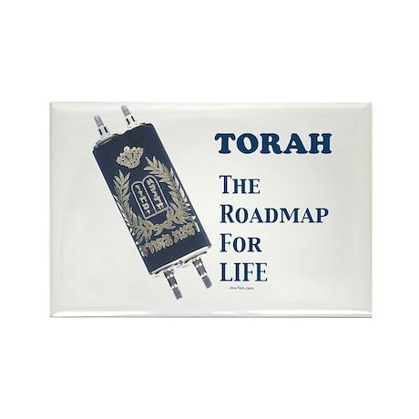 Torah Roadmap Jewish Rectangle Magnet