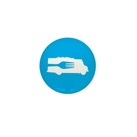 Food Truck: Side/Fork (Blue) Mini Button (10 pack)