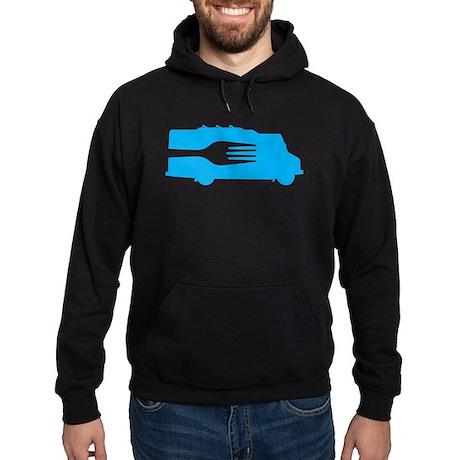 Food Truck: Side/Fork (Blue) Hoodie (dark)