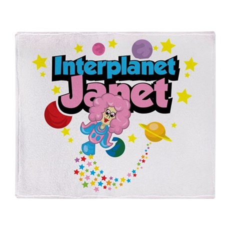 Interplanet Janet Throw Blanket