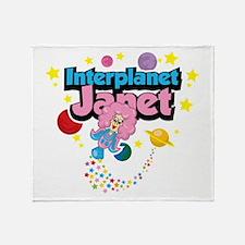 Interplanet Janet Throw Blanket