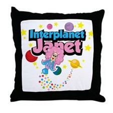 Interplanet Janet Throw Pillow