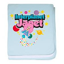Interplanet Janet baby blanket