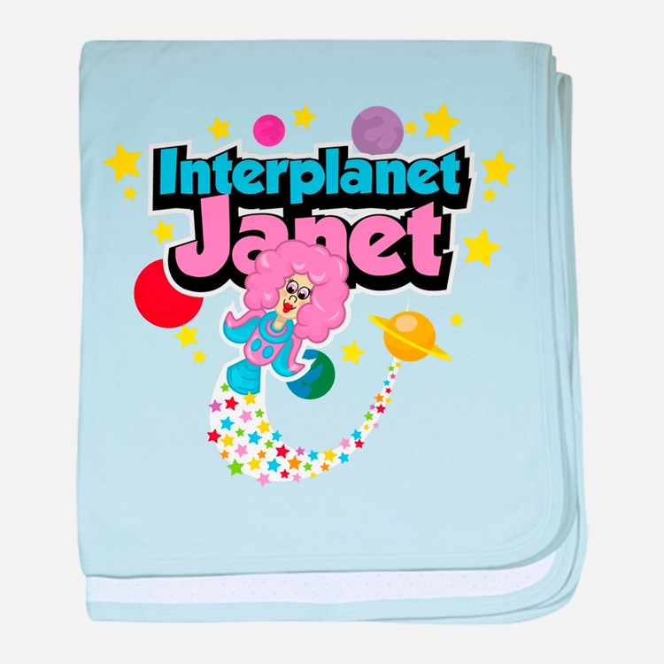 Interplanet Janet baby blanket