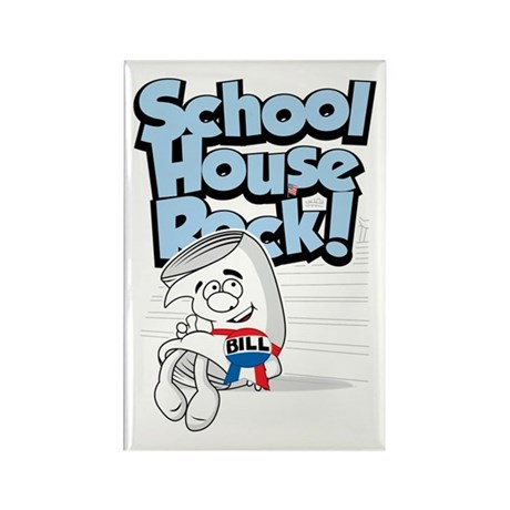Schoolhouse Rock Bill Rectangle Magnet