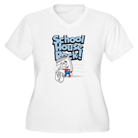 Schoolhouse Rock Bill Women's Plus Size V-Neck T-S