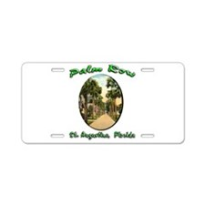 Palm Row Aluminum License Plate