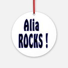 Alia Rocks ! Ornament (Round)