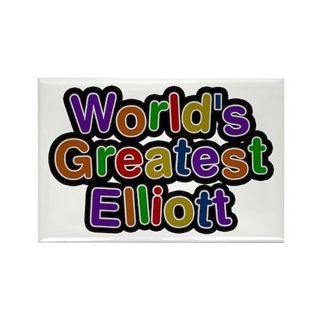 World's Greatest Elliott Rectangle Magnet 100 Pack