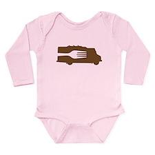 Food Truck: Side/Fork (Brown) Long Sleeve Infant B