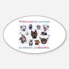 Pit Bull Snowflakes Decal