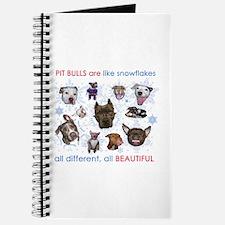Pit Bull Snowflakes Journal