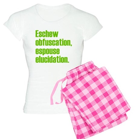 Eschew Obfuscation Women's Light Pajamas