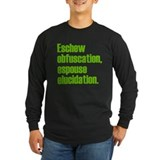 Eschew obfuscation Long Sleeve T-shirts (Dark)