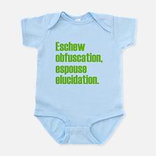 Eschew Obfuscation Infant Bodysuit
