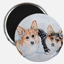 "Corgi Snow Dogs 2.25"" Magnet (10 pack)"