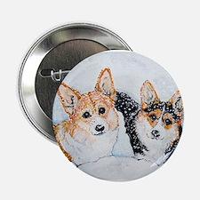 """Corgi Snow Dogs 2.25"""" Button"""