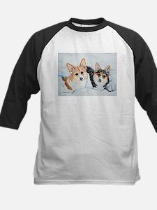 Corgi Snow Dogs Tee
