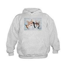 Corgi Snow Dogs Hoodie