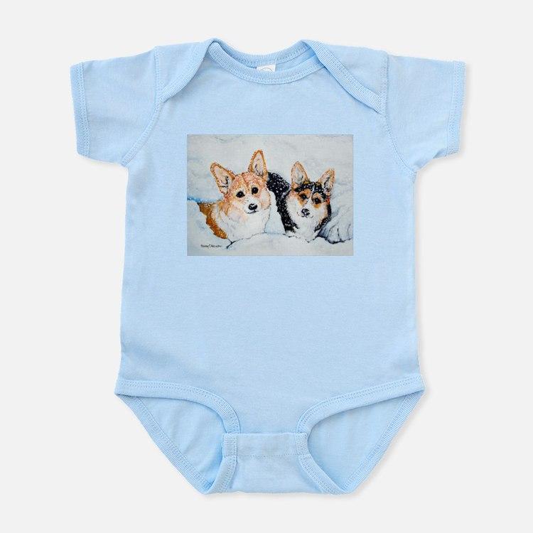 Corgi Snow Dogs Infant Bodysuit
